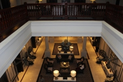 Birds eye of the lobby