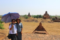 Ms Yu Yu (Diethelm Travel Yangon office) and Ms. Khin, our Bagan stationed guide of 5 years